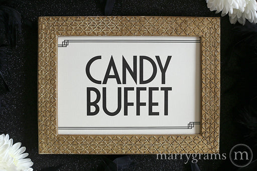 Candy Buffet Wedding Reception Sign Deco Style