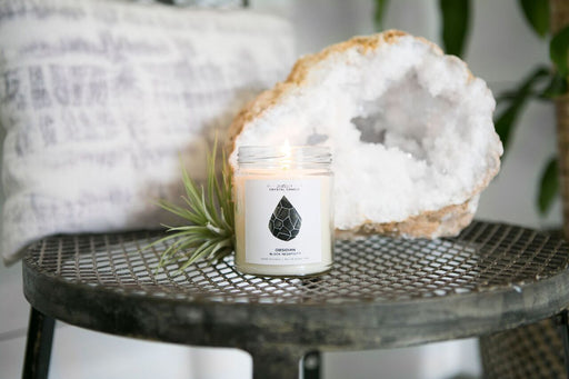 Obsidian Crystal Candle - Block Negativity