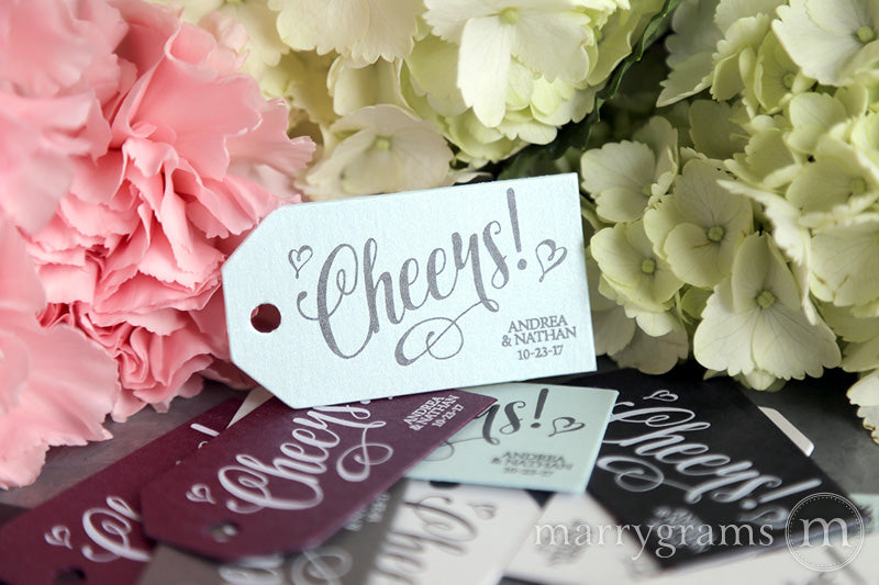 Cheers! Favor Tag Romantic Style