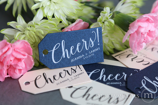 Cheers! Wedding Favor Tags