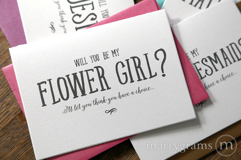 Funny Choice Be My Bridesmaid Proposal Cards