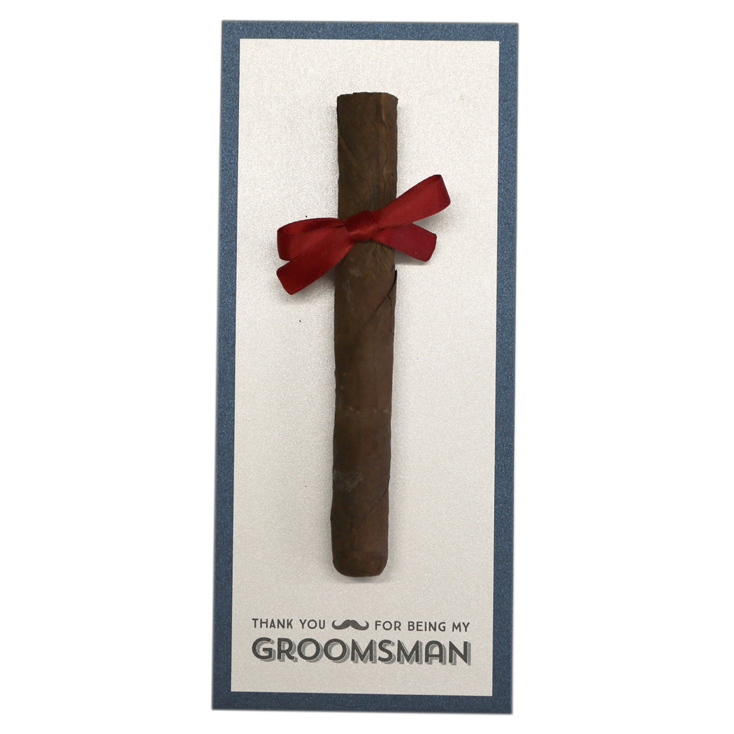 Thank You for Being My Groomsman Cigar Cards Created by Marrygrams for Groomsmen, Best Man, Usher & Wedding Party