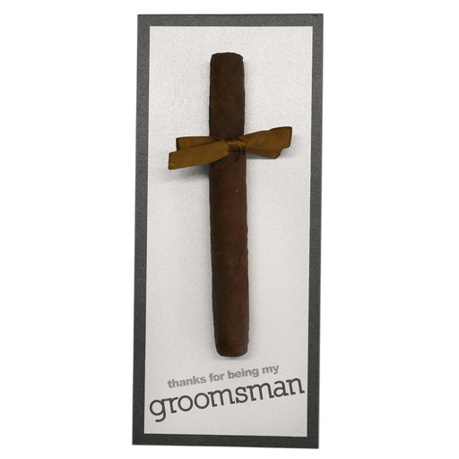 Thank You For Being My Groomsman Cigar Card Block Style