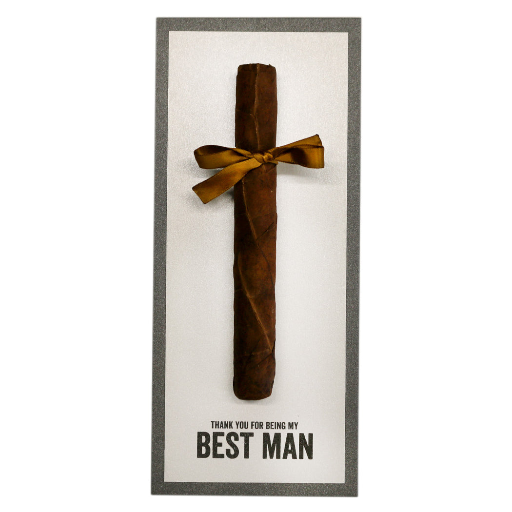 Thank You for Being My Groomsman Cigar Cards Created by Marrygrams for Groomsmen, Best Man, Usher & Wedding Party Block