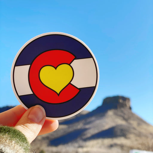 Colorado Heart Flag Logo Vinyl Sticker