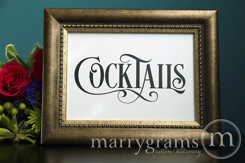 Wedding Cocktails Sign Enchanting Style