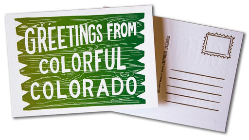 Greetings from Colorful Colorado Post Card
