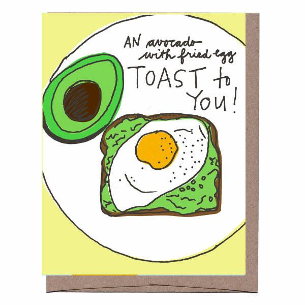 Avocado Toast to You Greeting Card
