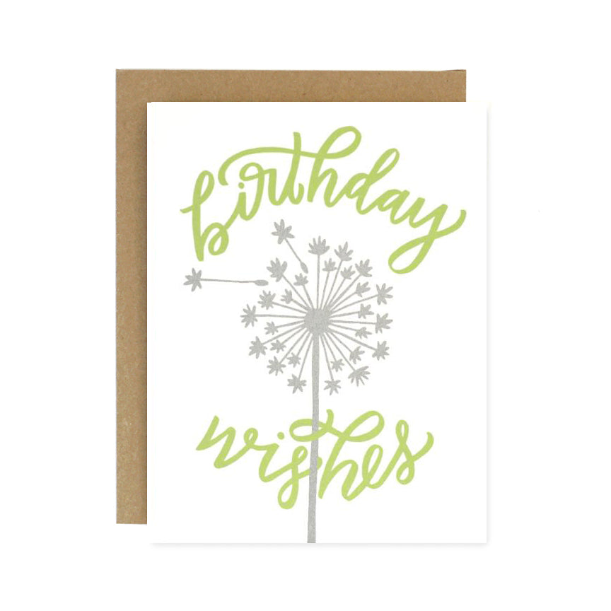 birthday wishes dandelion card