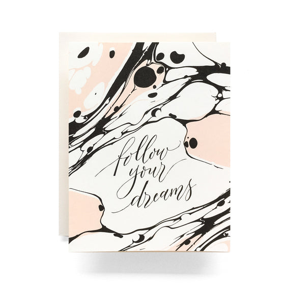 Marble Follow Your Dreams Card