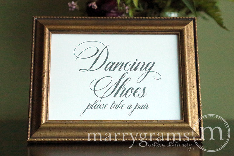 Dancing Shoes Flip Flop Basket Sign Calligraphy Style