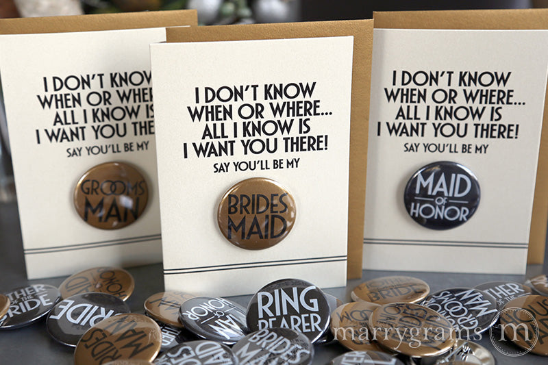 I Want You There! Deco Button Cards