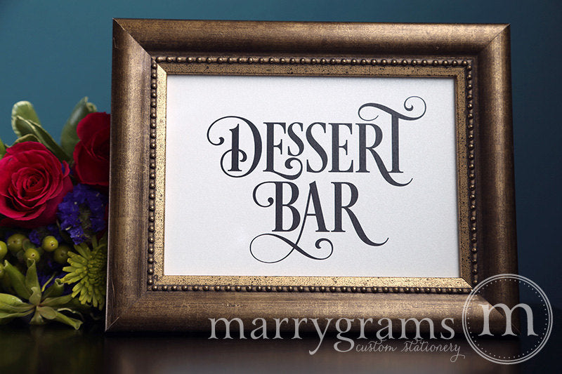 Dessert Bar Wedding Sign Enchanting Style