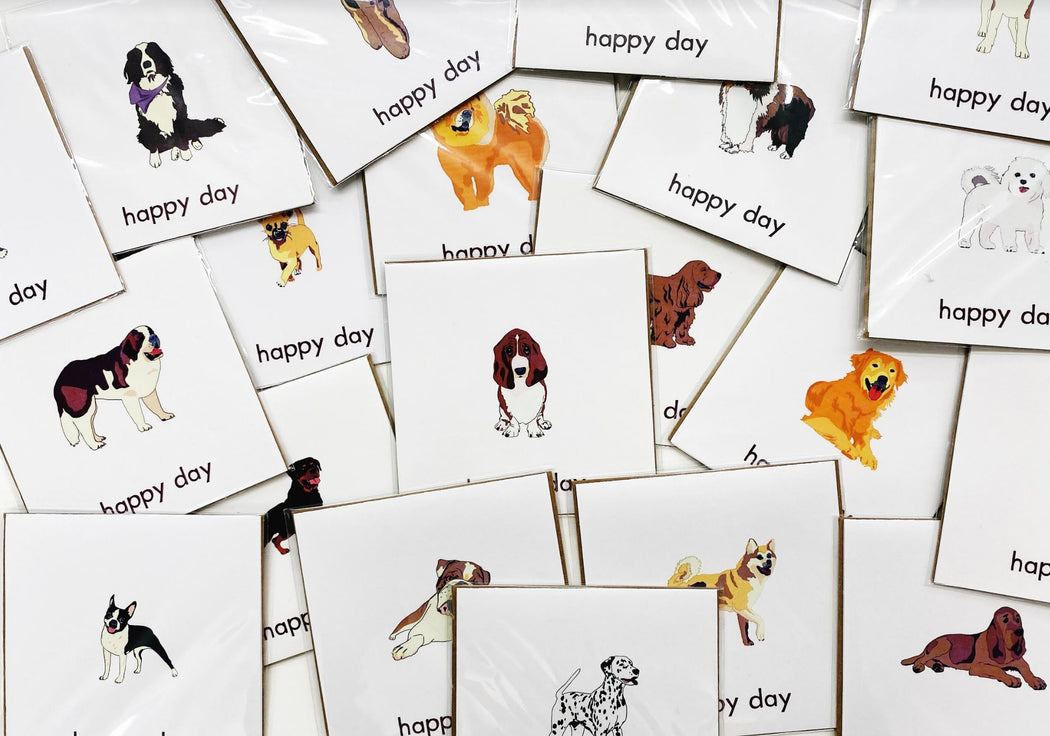 Happy Day Dog Square Card