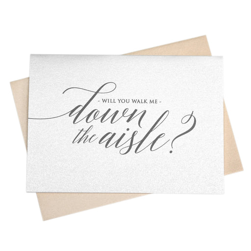 Will You Walk Me Down the Aisle Card Delicate Style