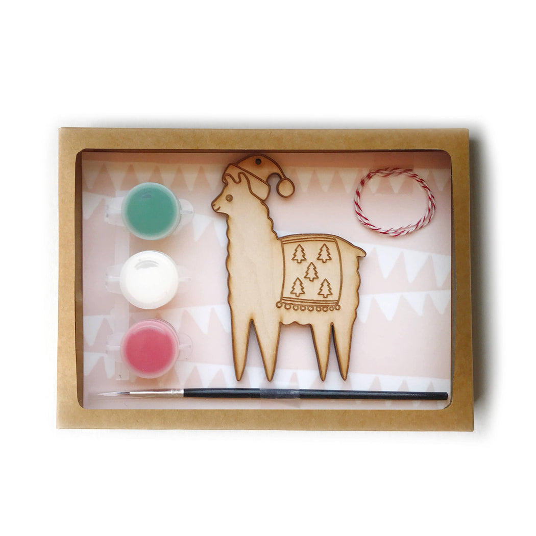 DIY paint Holiday Ornament Kit llama