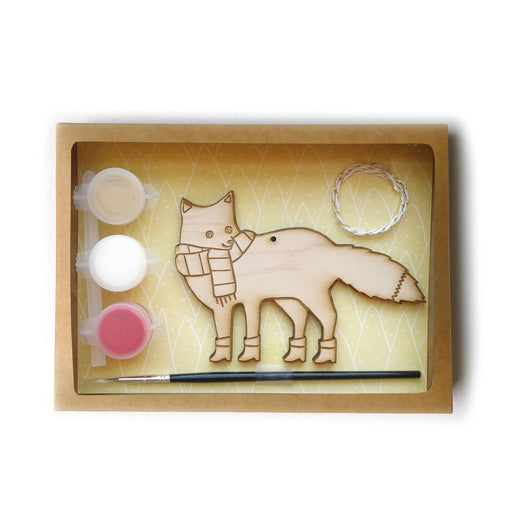 DIY paint Holiday Ornament Kit fox