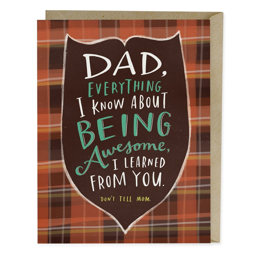 Dad I Learned From You Card