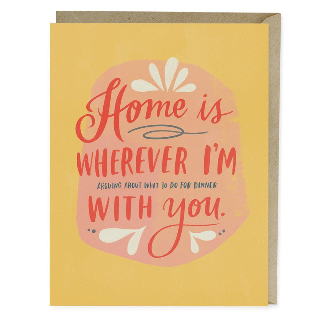 Home is Wherever Dinner Card