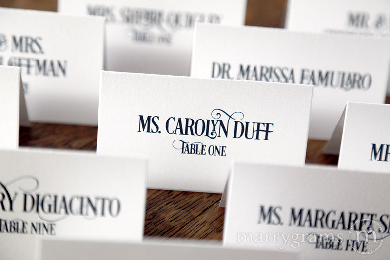 Reception Escort Cards Enchanting Style
