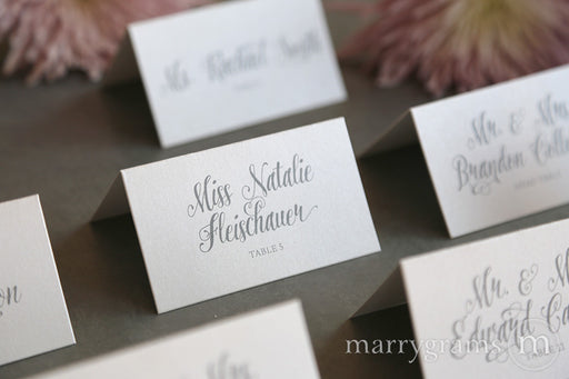 Reception Escort Cards Romantic Style