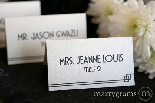 Reception Escort Cards Deco Style