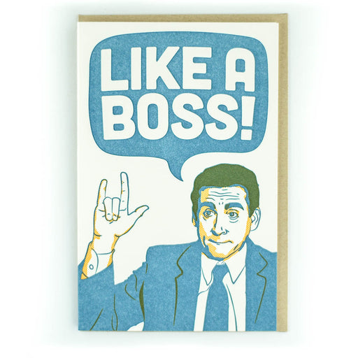 Like A Boss Office Card