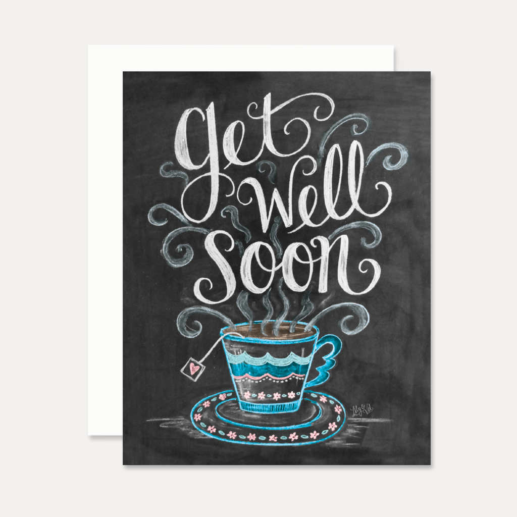 Get Well Soon Tea cup Card