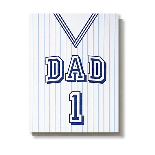 Dad Jersey #1 fathers day Card