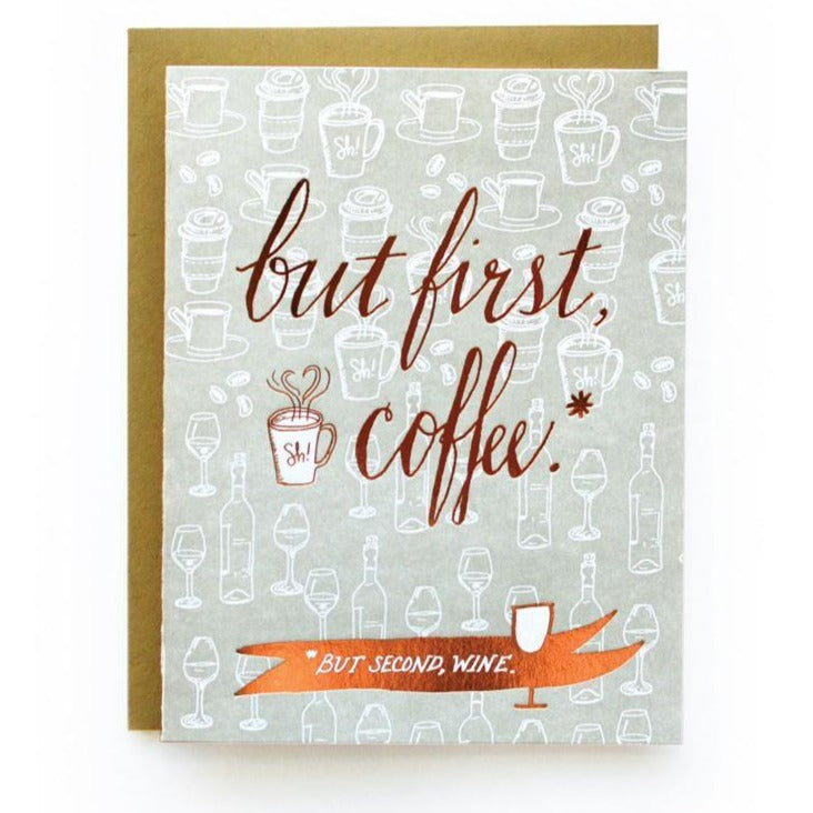 But First Coffee... Then Wine Card