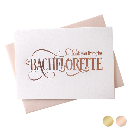 Foil From the Bachelorette Thank You Cards