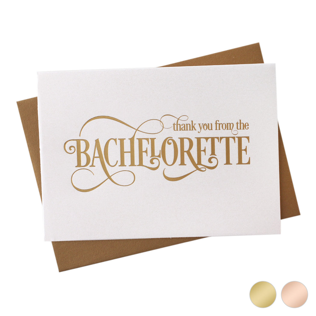 Gold Foil From the Bachelorette Thank You Cards
