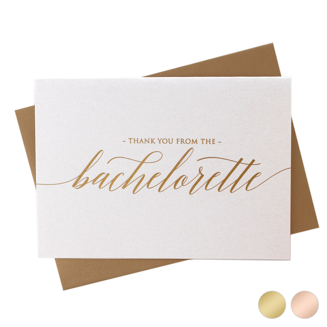 Gold Foil Thank You from the Bachelorette Cards