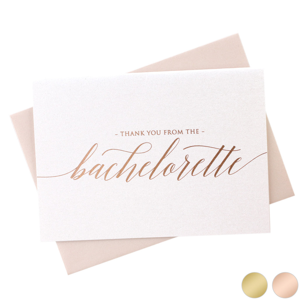 Foil Bachelorette Thank You Cards