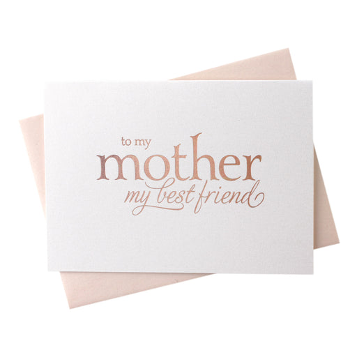 rose Gold Foil Mother My Best Friend wedding day  Card