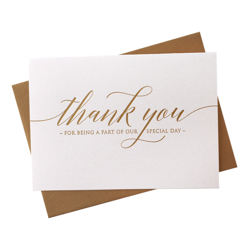 Foil Special Day Thank You Card Delicate Style