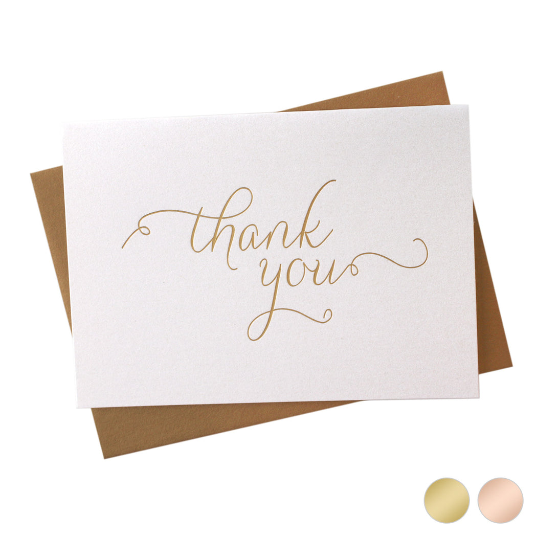 Gold Foil Simple Thank You Card Thin Style