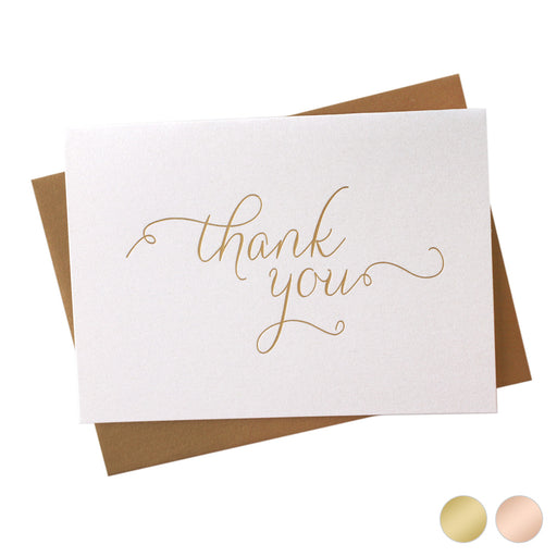 Foil Thank You Card Thin Style