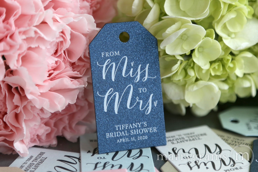 From Miss to Mrs. Bridal Shower Favor Tags