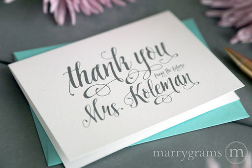 Thank You From The Future Mrs. Bridal Shower Card Romantic Style
