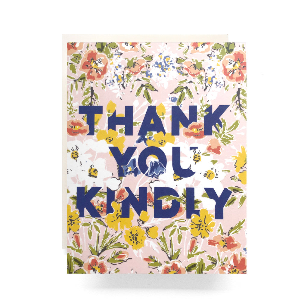 Thank You Kindly Floral Card