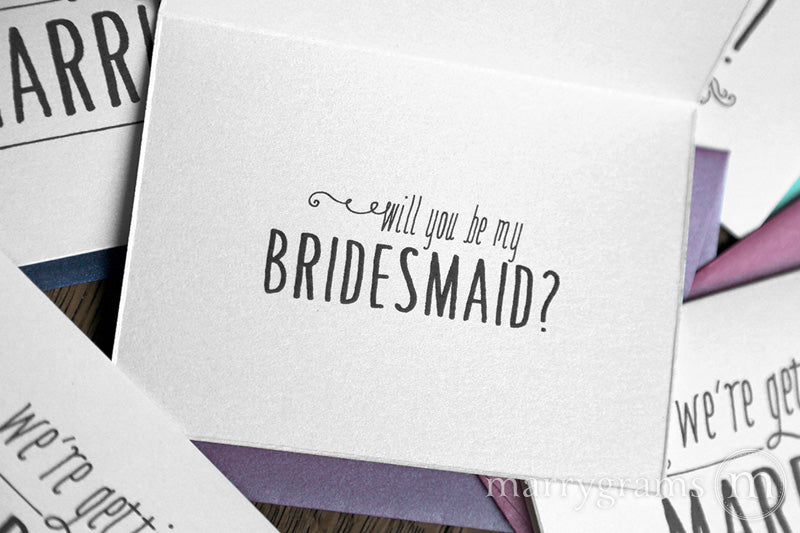 We're Getting Married Will You Be My Bridesmaid Cards
