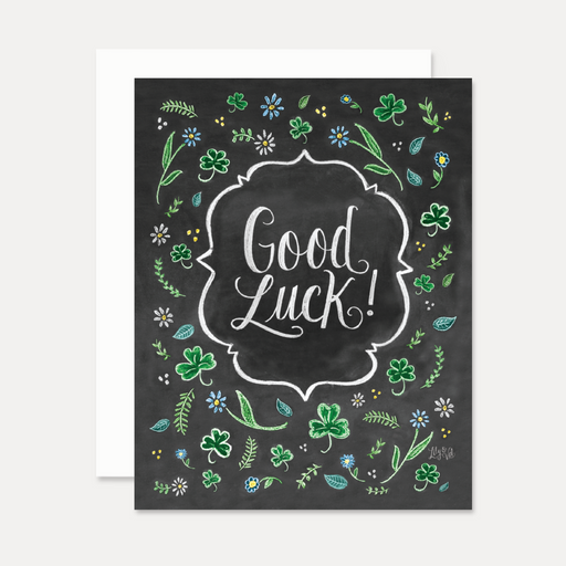 Good Luck Shamrocks Card