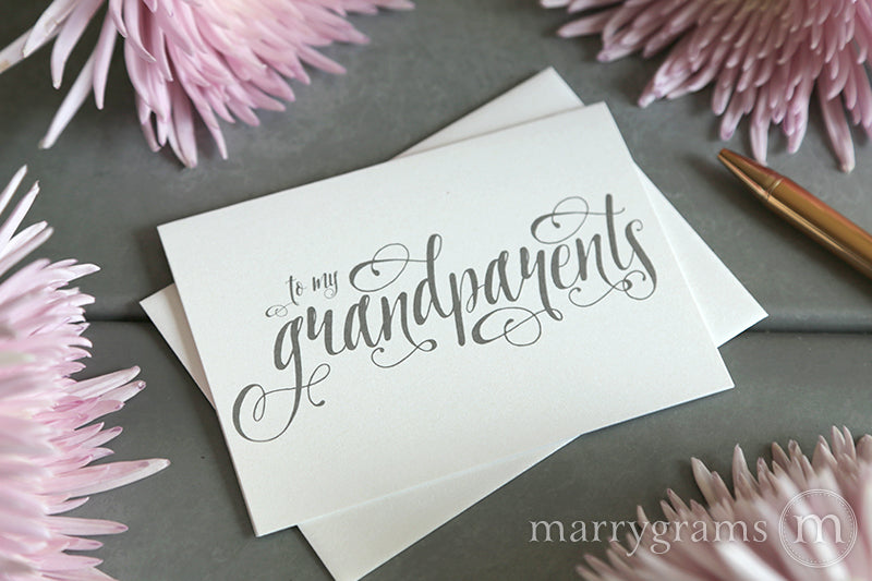 To My Family grandparents Wedding Card Romantic Style