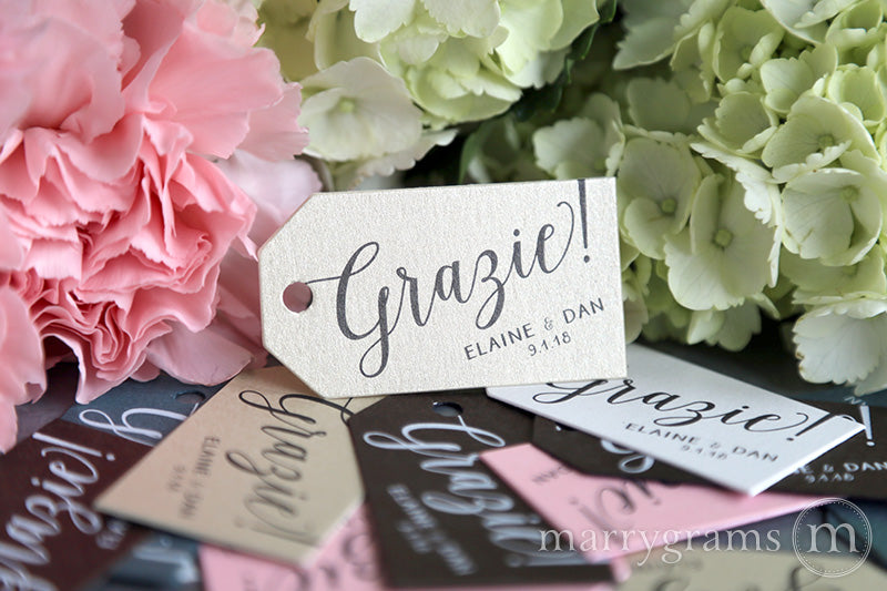 Grazie! Custom Favor Tags
