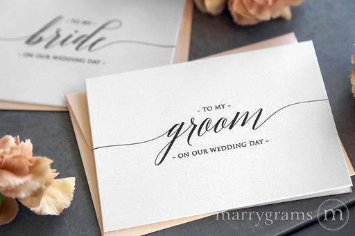 To My Bride or Groom Wedding Day Card Delicate Style