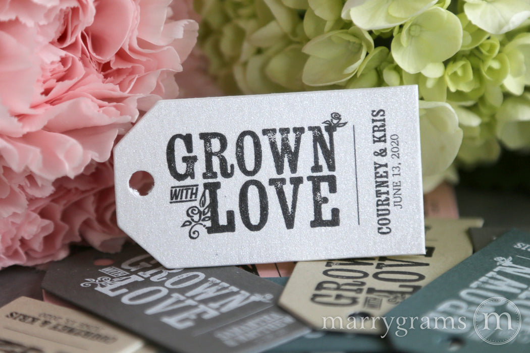 Grown with Love Favor Tags