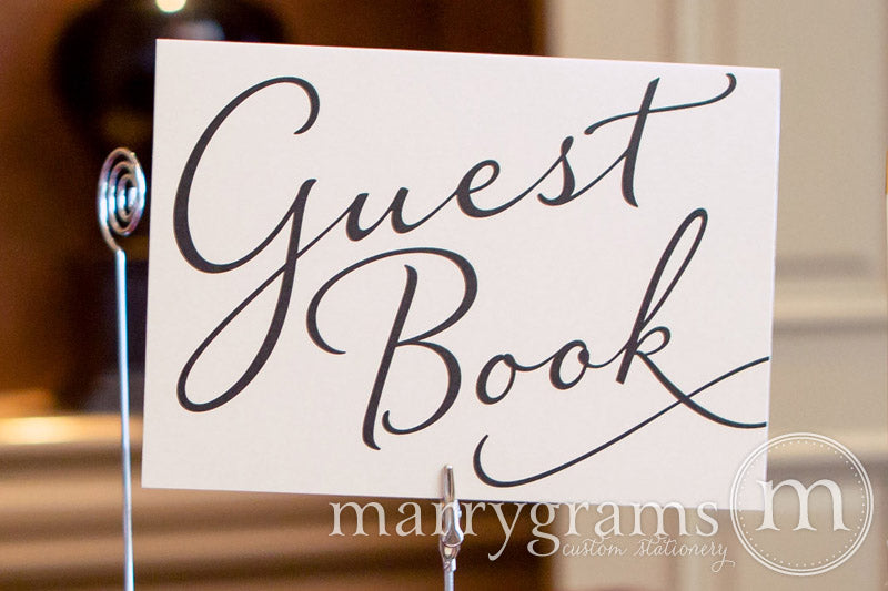 Wedding Guest Book Sign Diagonal Style
