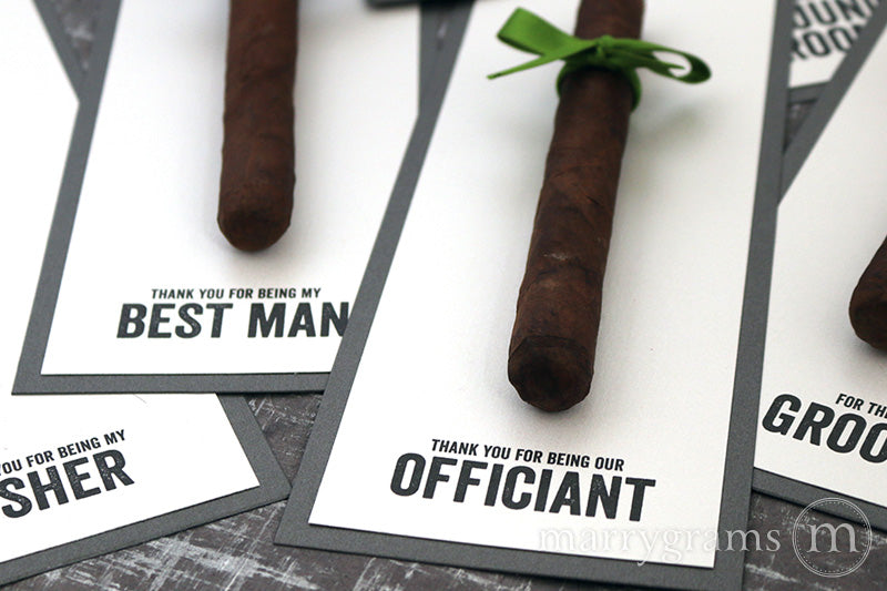 Thank You for Being My Groomsman Cigar Card