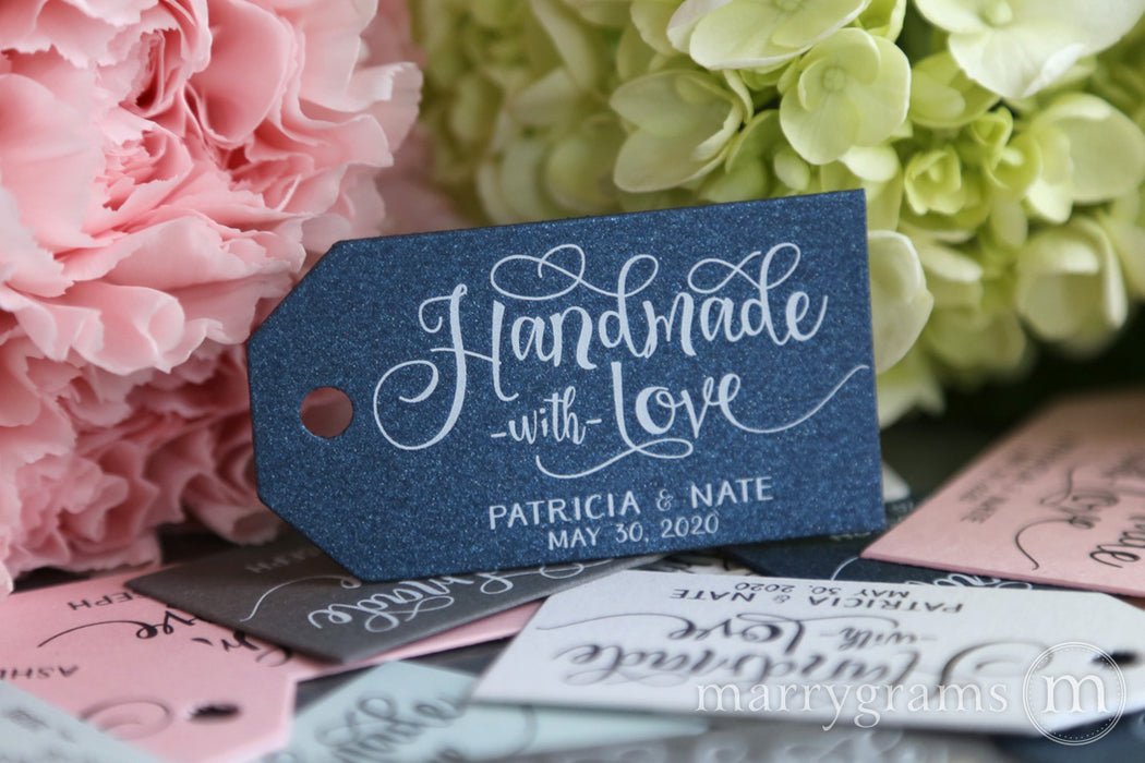 Handmade With Love Favor Tags